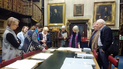 Exploring the archive in the Mining Institute's fabulous historic library