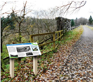 Sensitively-sited new interpretation panels reveal the history of Kielder Viaduct